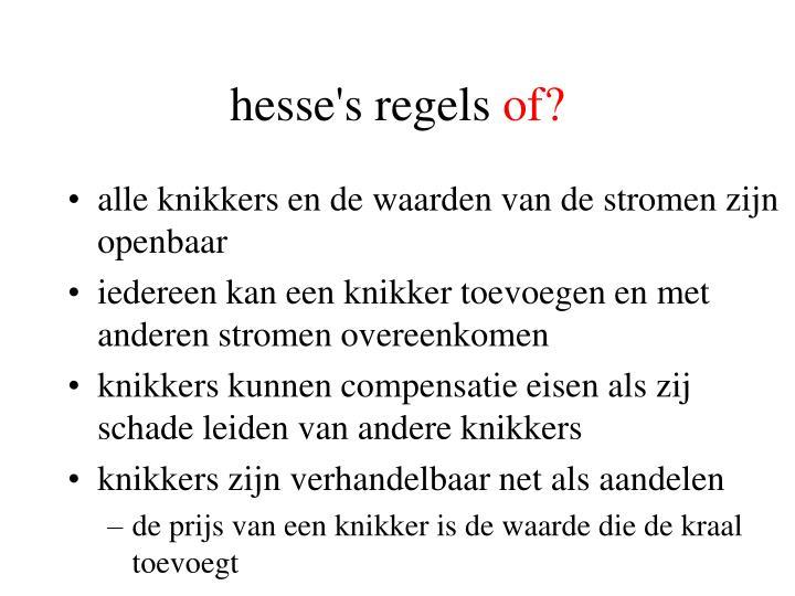 hesse's regels