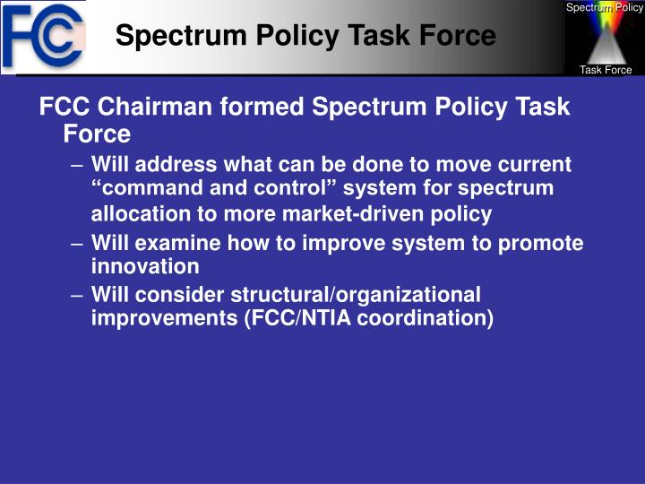 Spectrum Policy Task Force