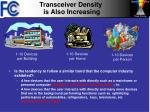 transceiver density is also increasing