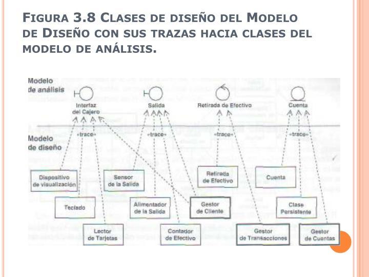Figura 3.8 Clases de diseño del Modelo de Diseño con sus trazas hacia clases del modelo de análisis.