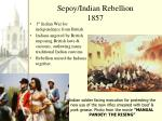 sepoy indian rebellion 1857