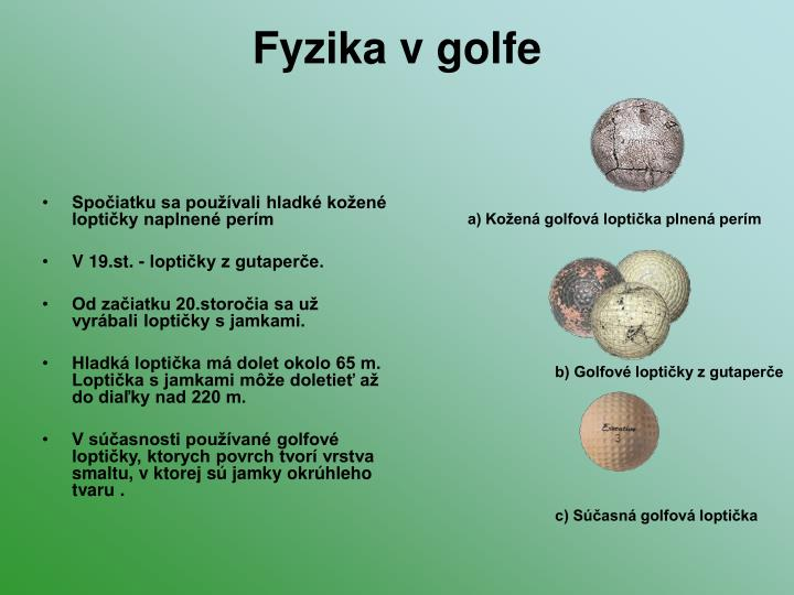 Fyzika v golfe