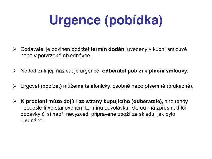 Urgence (pobídka)