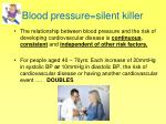 blood pressure silent killer