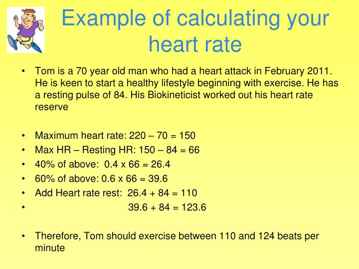 Example of calculating your heart rate