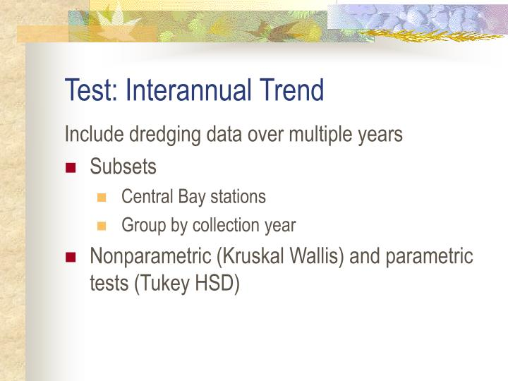 Test: Interannual Trend