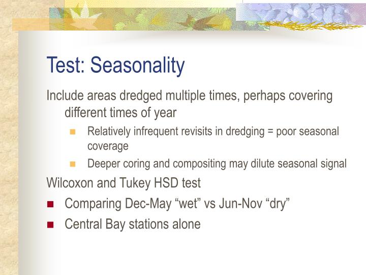 Test: Seasonality