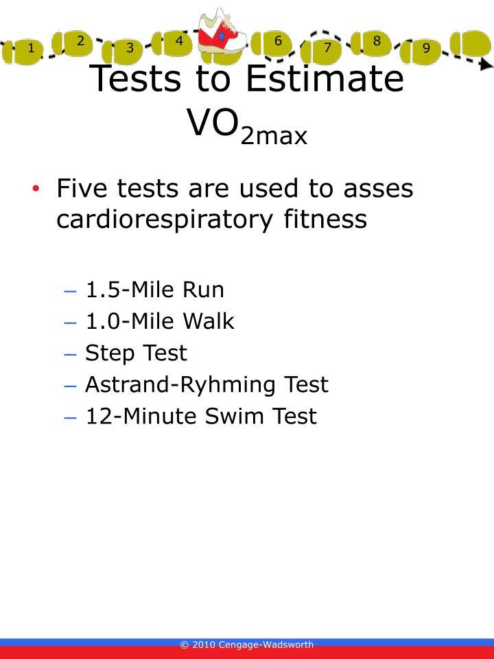 Tests to Estimate VO