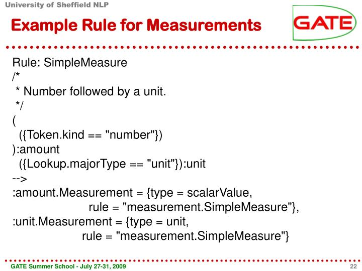 Example Rule for Measurements