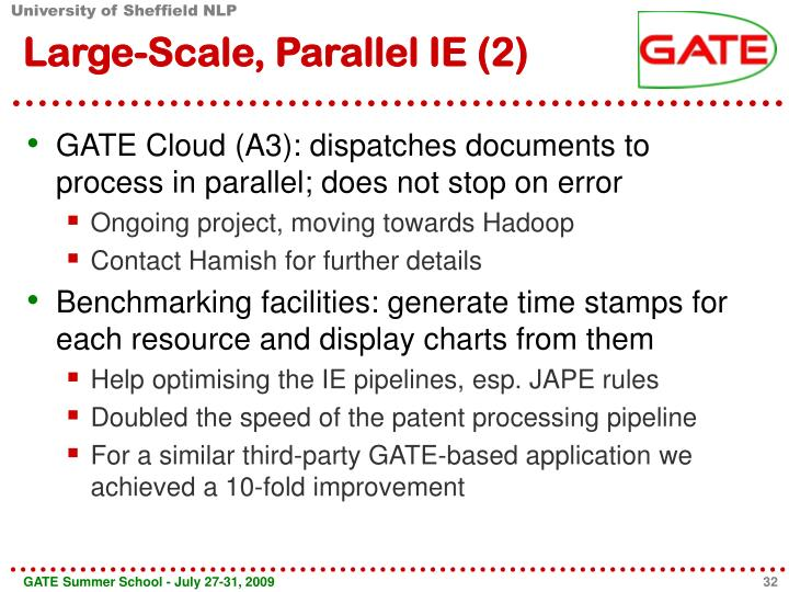 Large-Scale, Parallel IE (2)