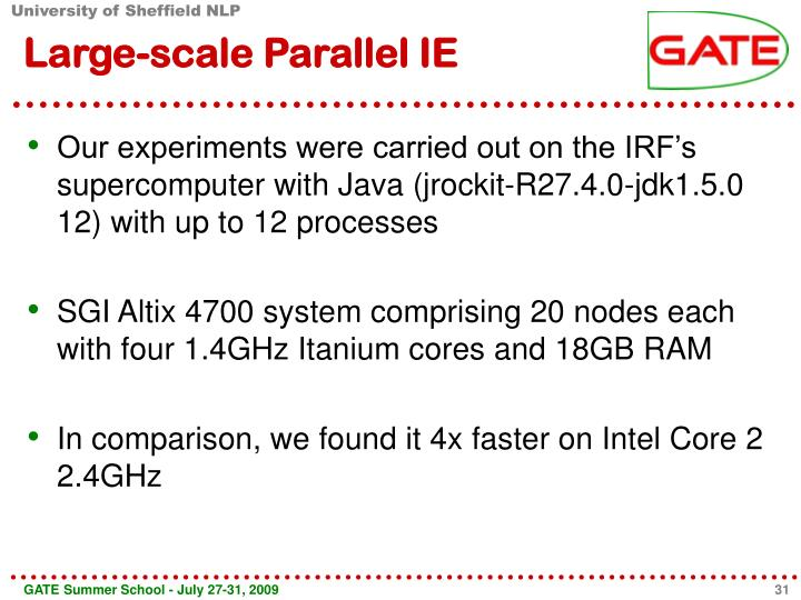 Large-scale Parallel IE