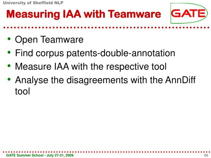 Measuring IAA with Teamware