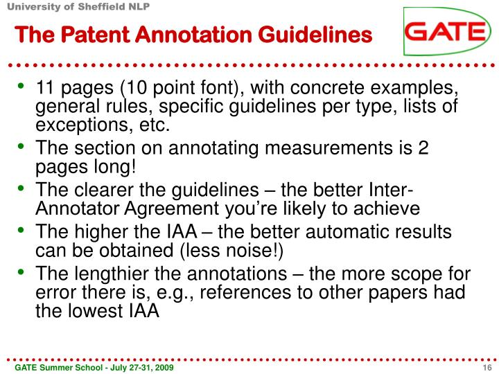 The Patent Annotation Guidelines