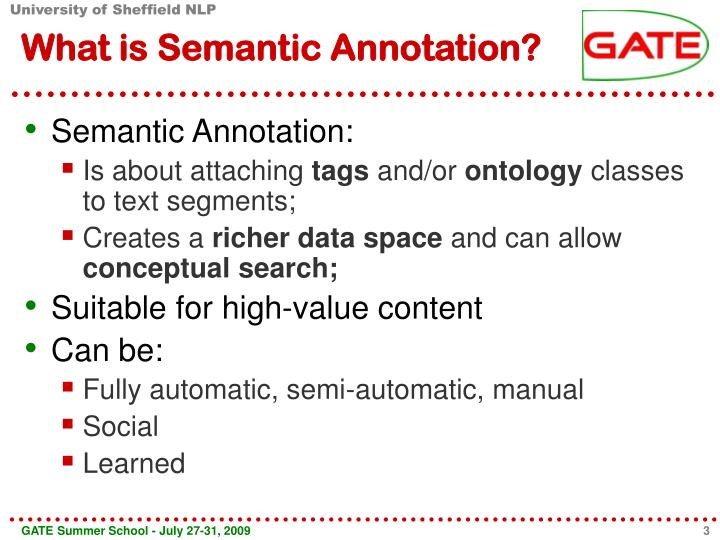 What is semantic annotation