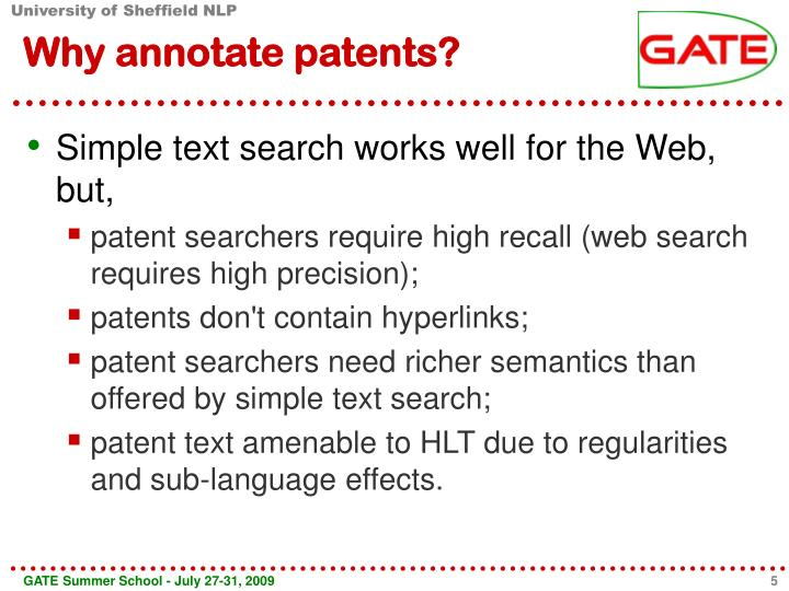 Why annotate patents?