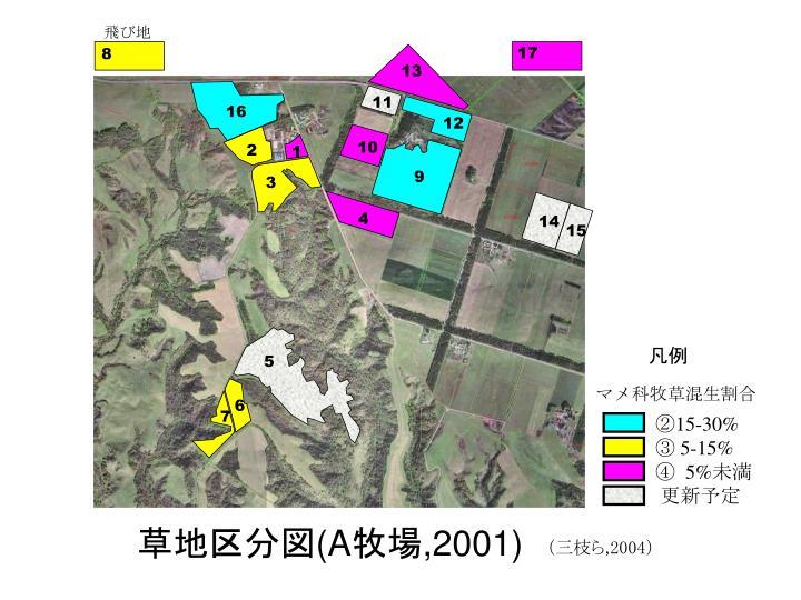 草地区分図