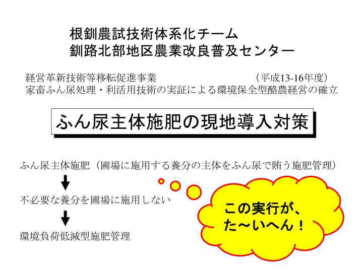 根釧農試技術体系化チーム