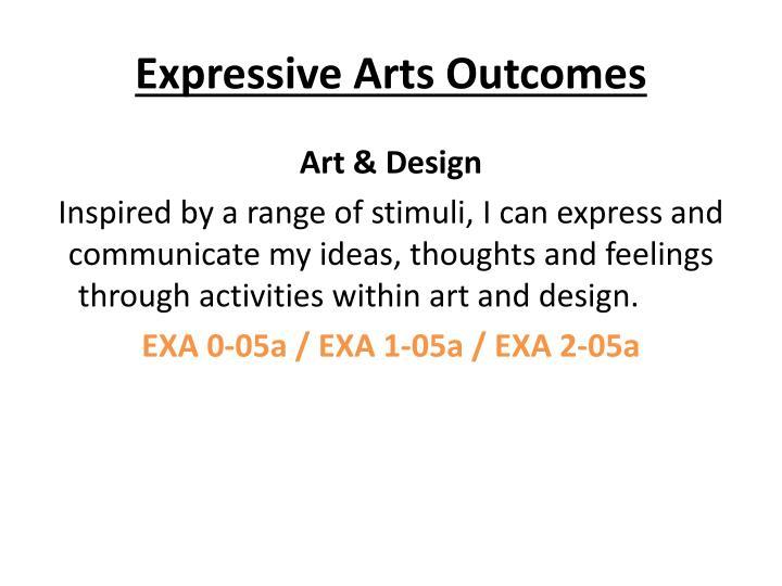 Expressive Arts Outcomes