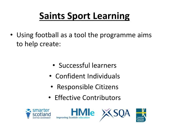 Saints sport learning
