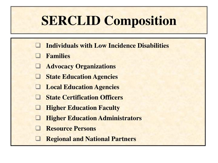 SERCLID Composition