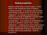 feeling properties