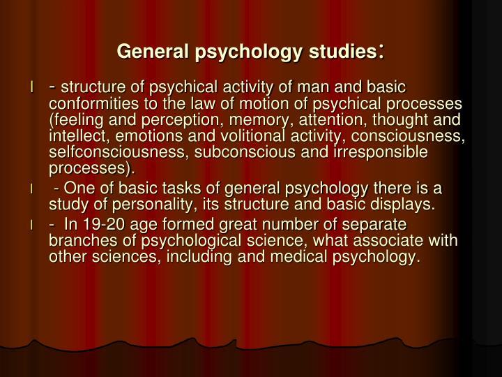 General psychology studies