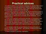 practical advices