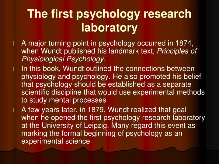 The first psychology research laboratory