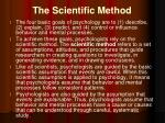 the s cientific m ethod