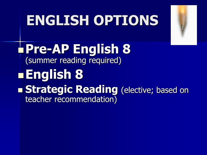Pre-AP English 8