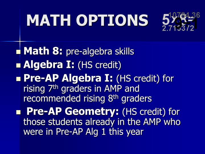 Math 8: