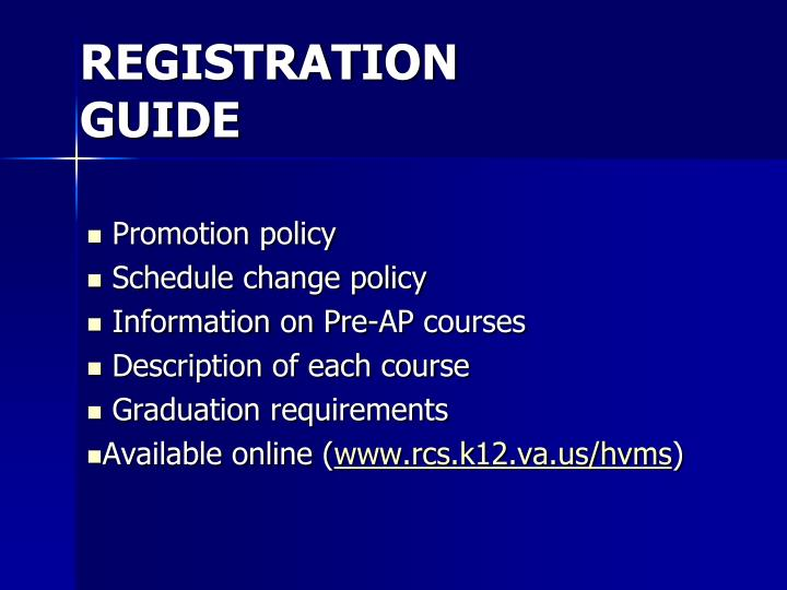 Registration guide