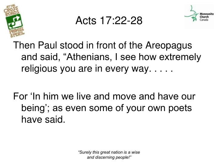 Acts 17:22-28