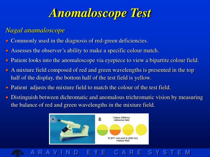 Anomaloscope Test