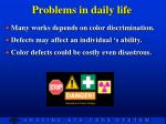 problems in daily life