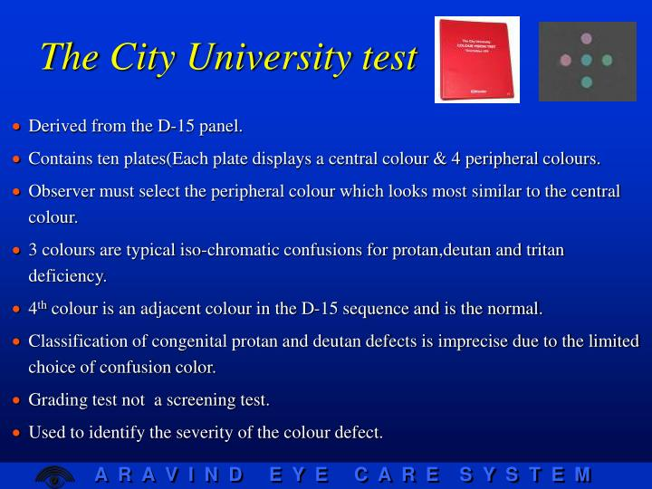 The City University test