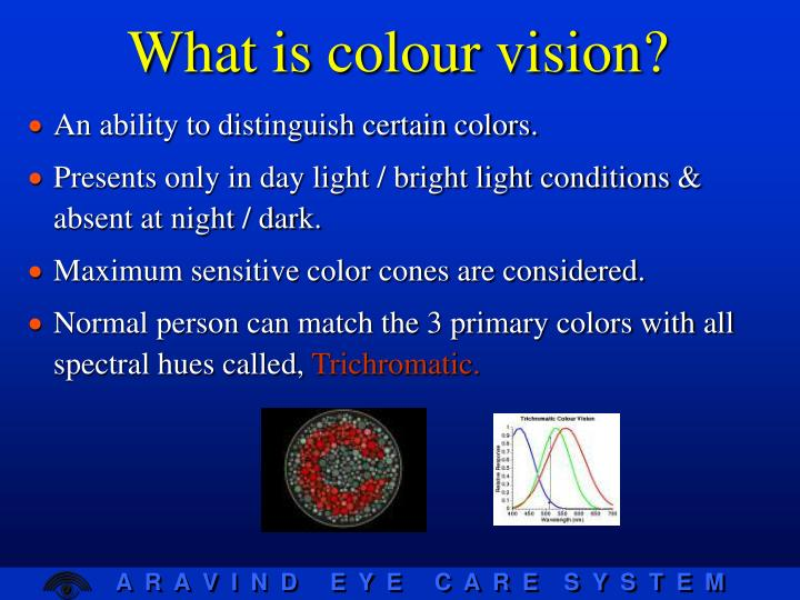 What is colour vision?