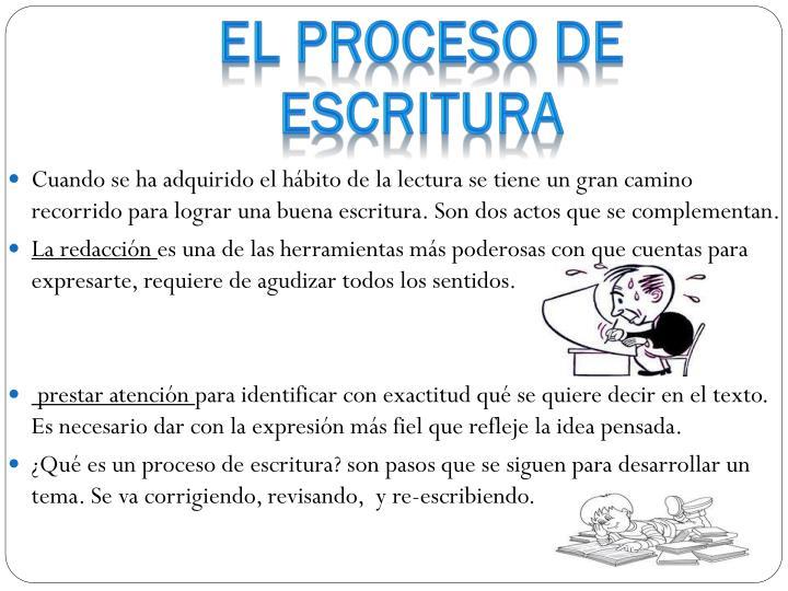 EL PROCESO DE ESCRITURA