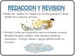 redaccion y revision