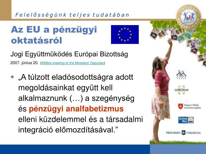 Az EU a pénzügyi oktatásról