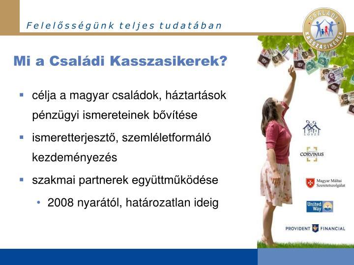 Mi a Családi Kasszasikerek?