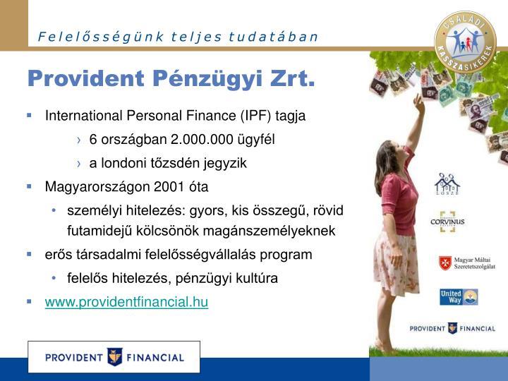 Provident Pénzügyi Zrt.