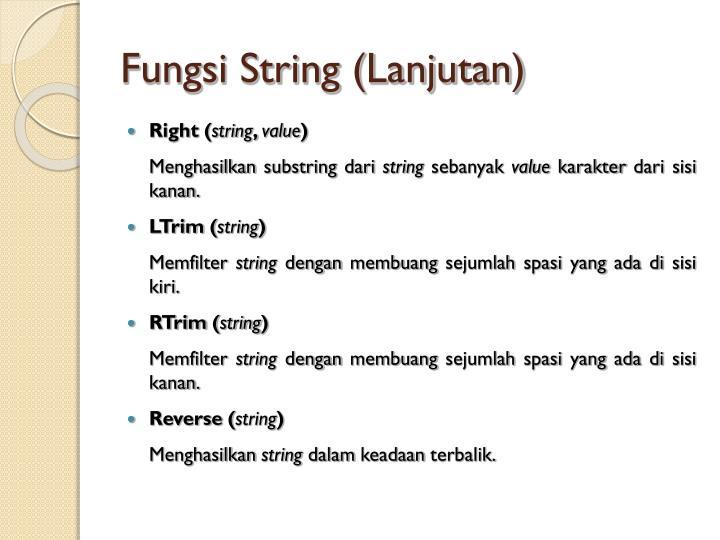 Fungsi String (Lanjutan)