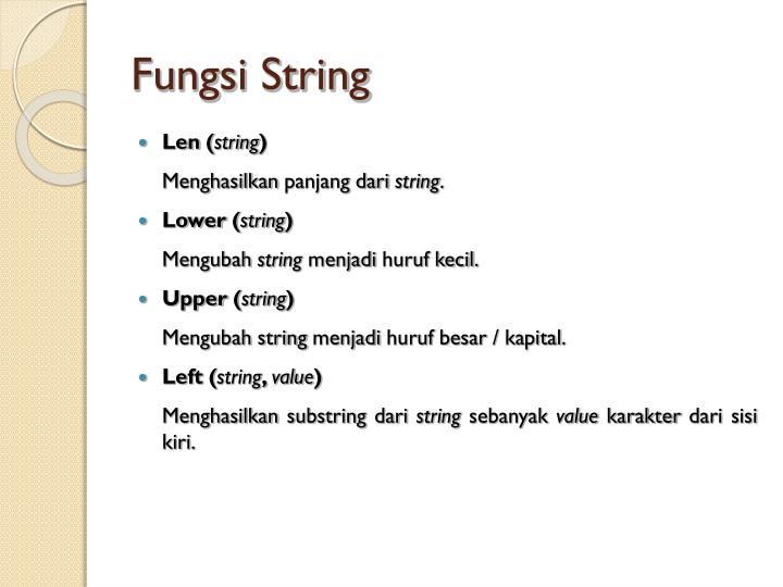 Fungsi String