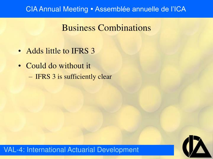 Adds little to IFRS 3