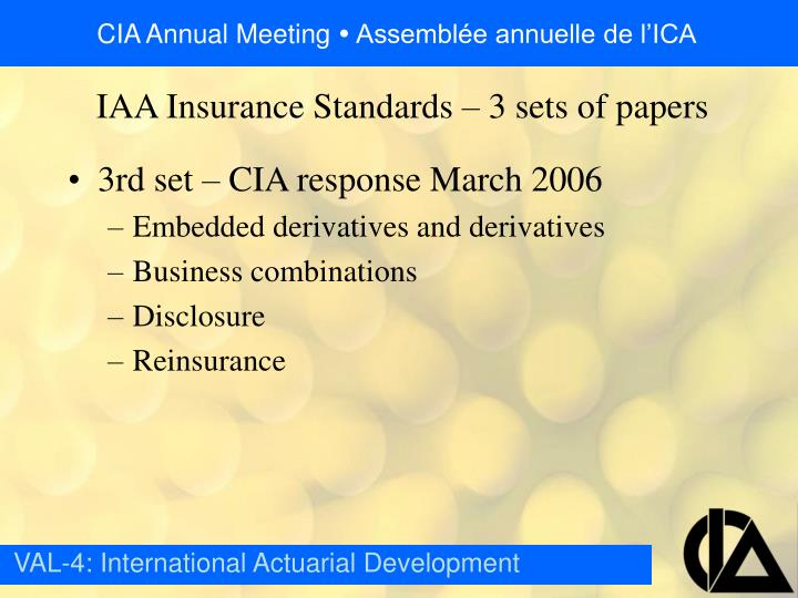 3rd set – CIA response March 2006