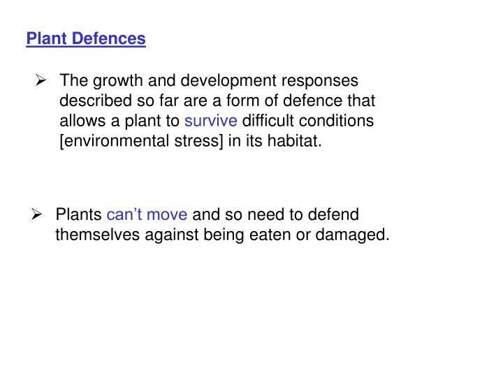Plant Defences