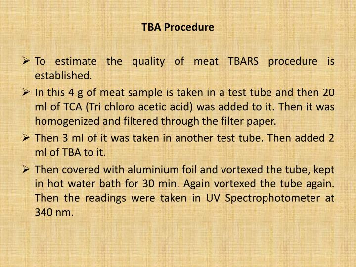 TBA Procedure