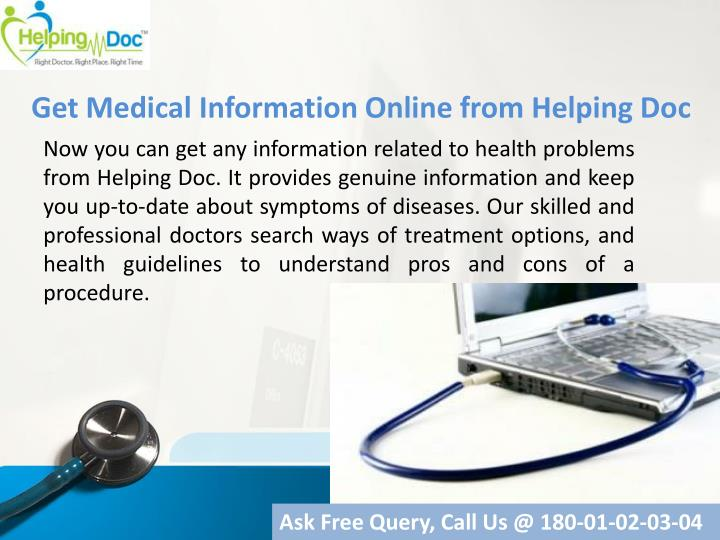 Get Medical Information Online from Helping Doc
