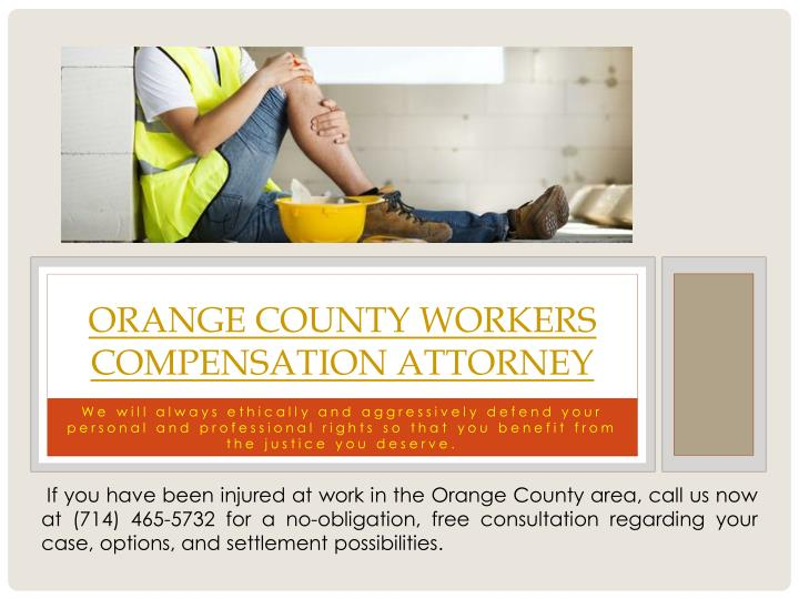 Orange county workers compensation attorney